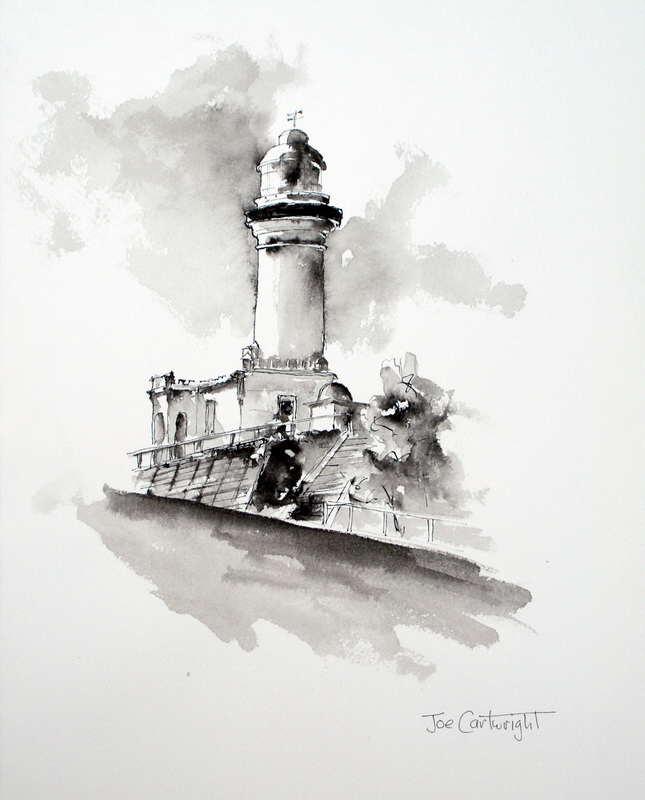 Gallery Pen Ink And Wash Paintings Of Joe Cartwright