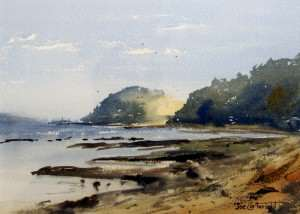 Crookhaven Heads, early morning plein air painting