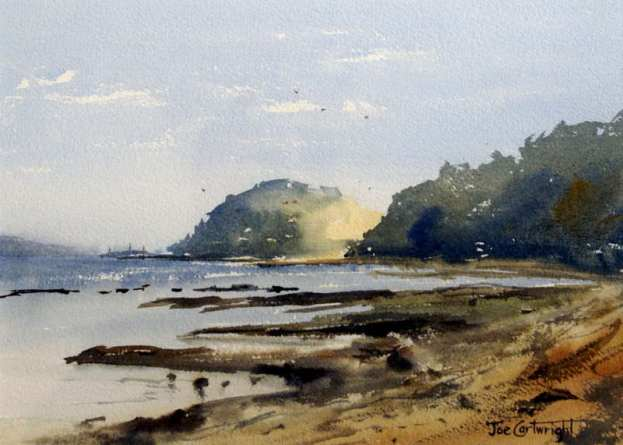 How to paint plein air with watercolors