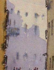 The railing silhouette on Venetian buildings