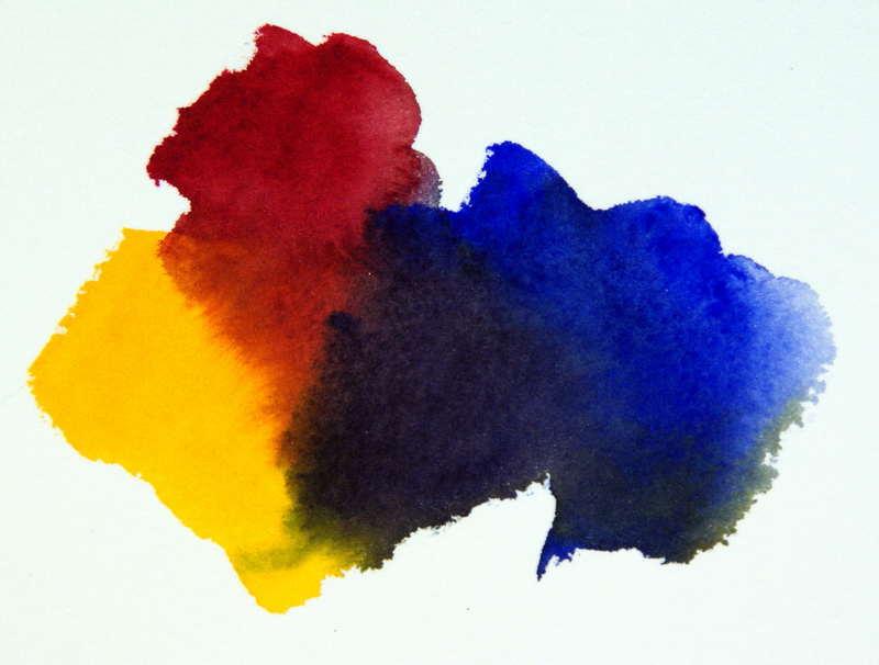 Book Cover Watercolor Mixing ~ Color mixing formula bright versus dull watercolors