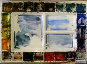 Colors for watercolor wash for water and sky