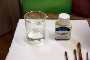 Equipment for applying art masking fluid