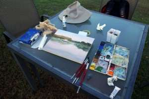 My basic plein air watercolor painting kit
