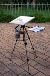 plein aire painting easel for watercolor light weight