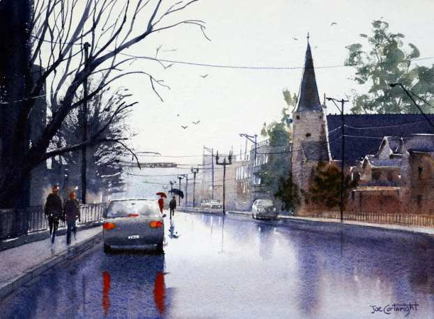 Wet weather street painting