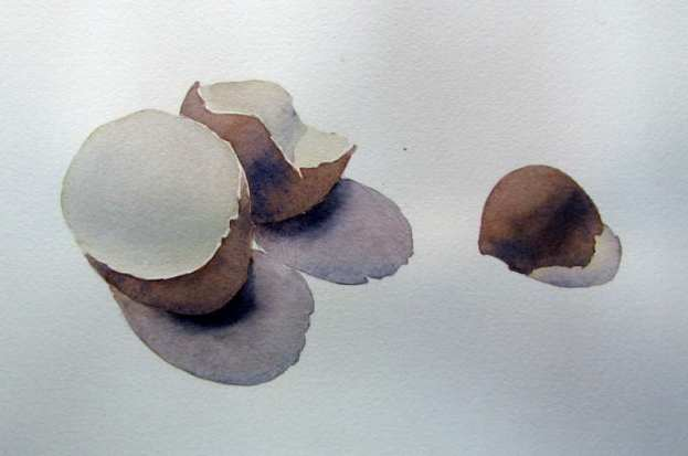 Simple watercolor painting subject
