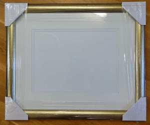 Watercolor painting kit frame purchased from framer