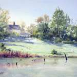 Watercolor Painting of Pughs Lagoon by Joe Cartwright