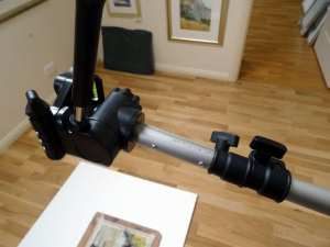 Image showing how the camera tripod head attached to reflector arm