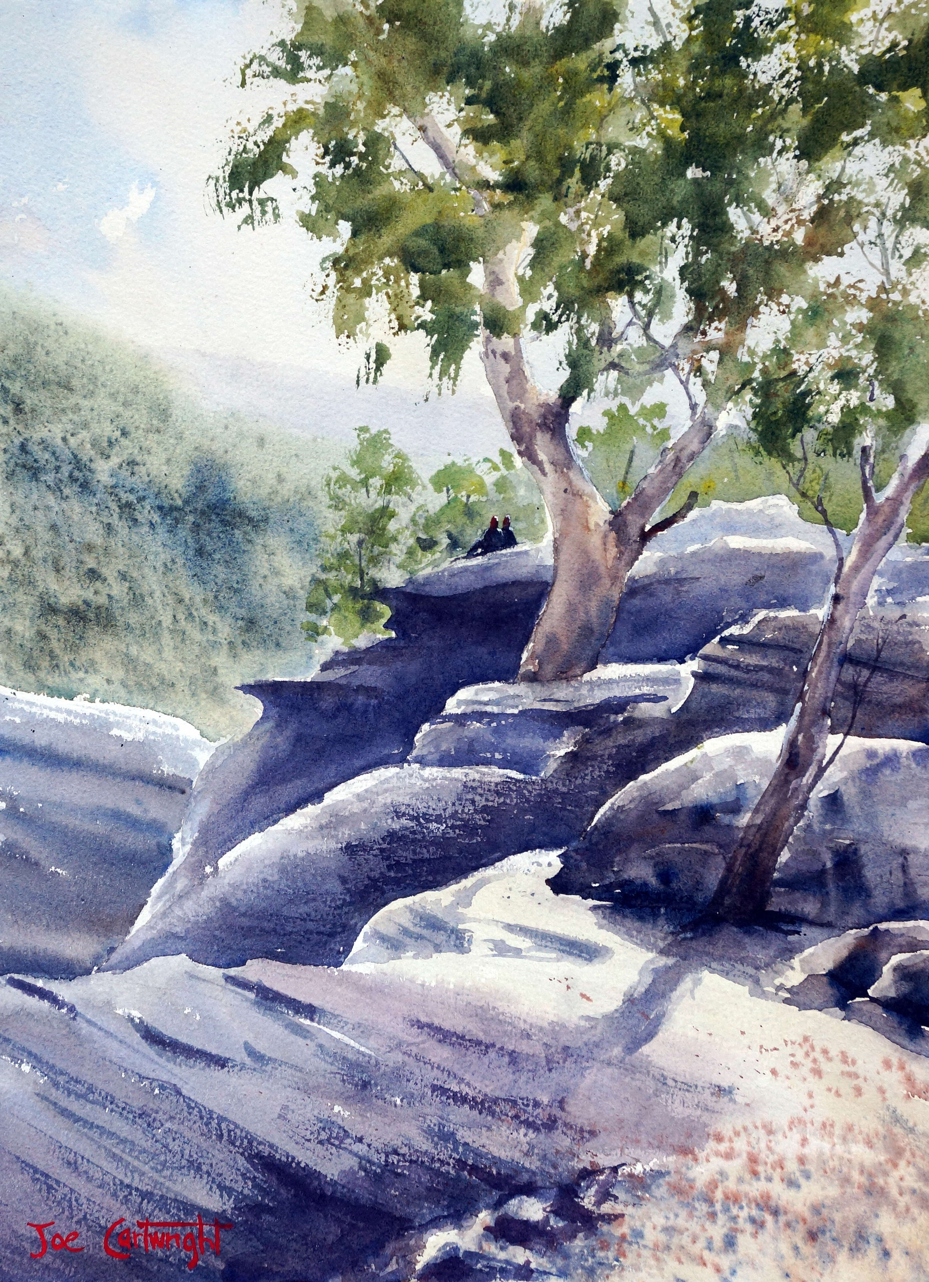 Original watercolor art for sale - Painting For Sale Watercolor Titled At The End Of Cabbage Tree Road 10 5 In