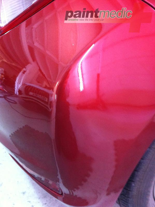 Car dent after Paintmedic repair