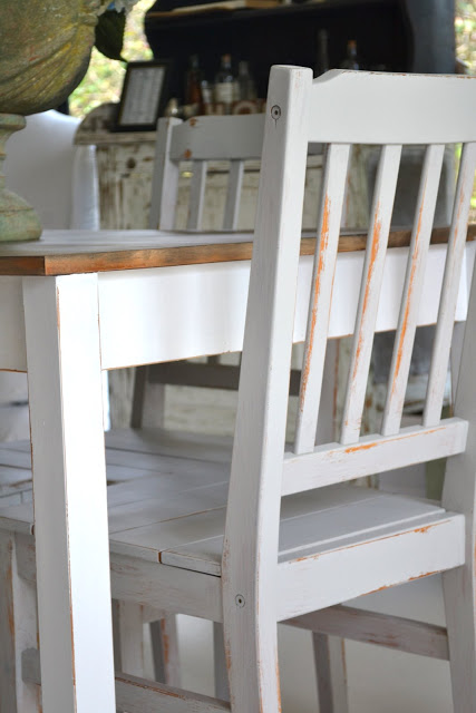 Farmhouse Dining Table With Grey Chairs Paint Me White