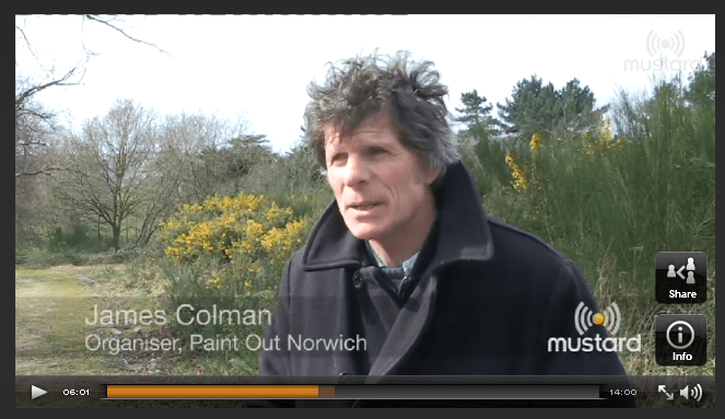 Mustard News previews Paint Out Norwich 2015 & interviews organiser James Colman, 31 March 2015