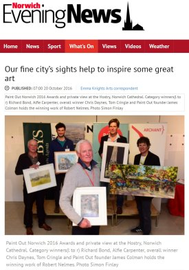 Our fine city's sights help to inspire some great art, Norwich Evening News, 20 October 2016