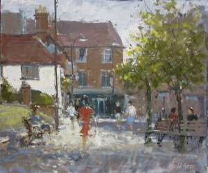 Strollers in the Town by Gerald Green
