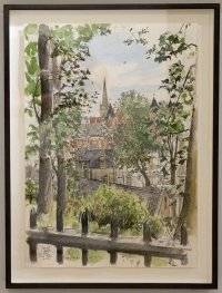 PON14 Painting #83 Liam Wales, Norwich from the Castle, mixed media