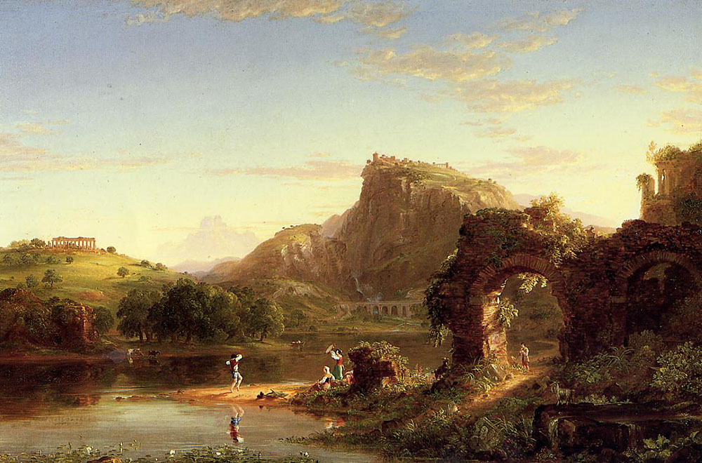 Thomas Cole L Allegro Italian Sunset 1845