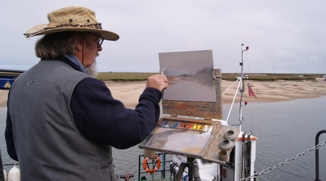 Michael Richardon painting plein air Paint Out Wells-next-the-Sea Norfolk