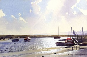 Godfrey Sayers Artist Morston Creek Norfolk