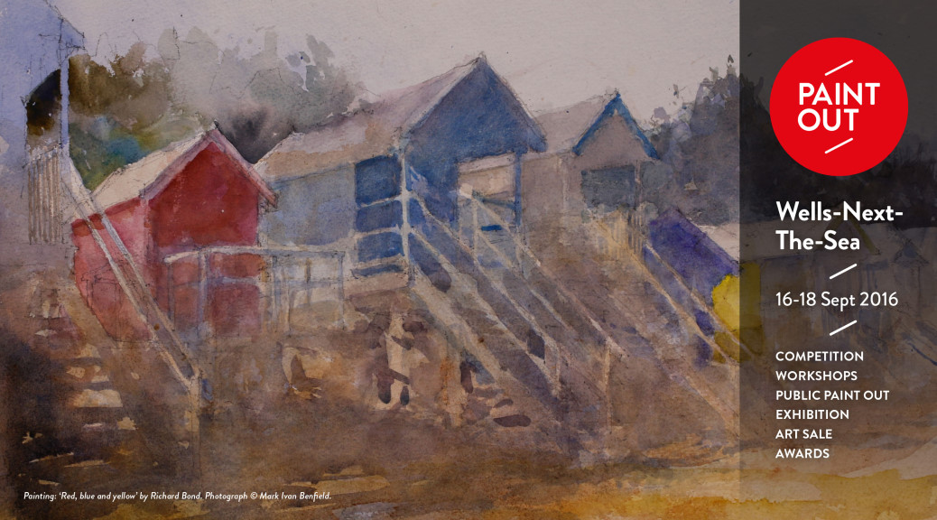 Red, Blue and Yellow by artist Richard Bond at Paint Out Wells 2015