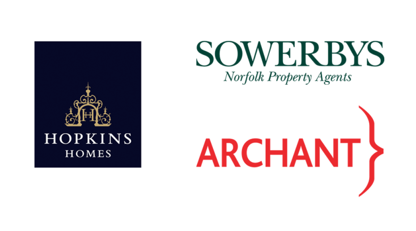 Sponsors of Paint Out Wells 2016 - Hopkins Homes, Sowerbys, Archant