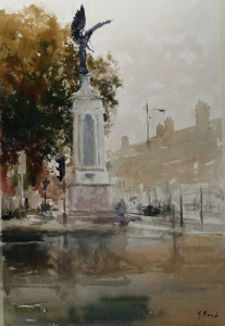 Artist Richard Bond - Winged Victory 13x20 Watercolour on Paper Paint Out Norwich 2015 photo by Mark Ivan Benfield