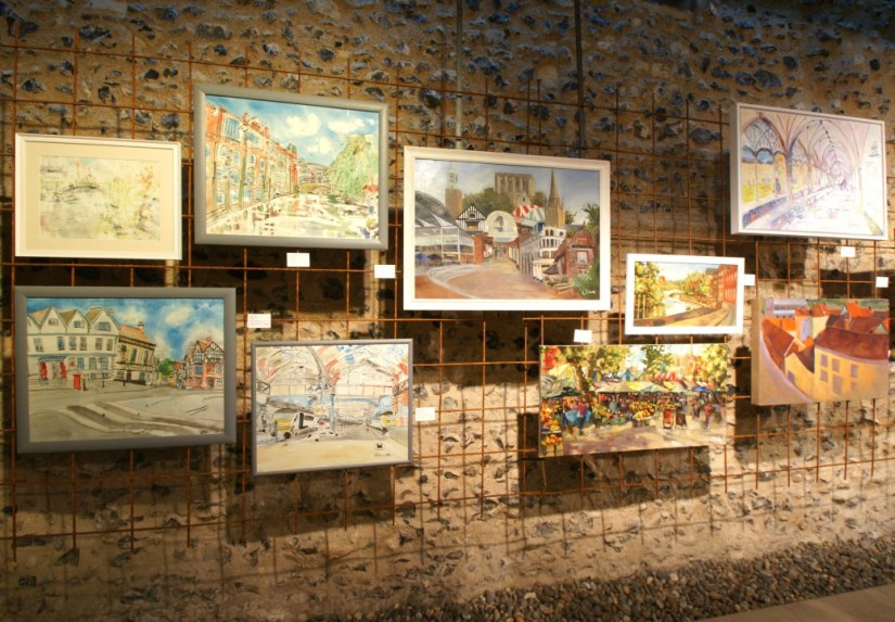 Paint Out Norwich 2016 Exhibition photo by Katy Jon Went