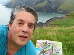 David Lindsay art selfie
