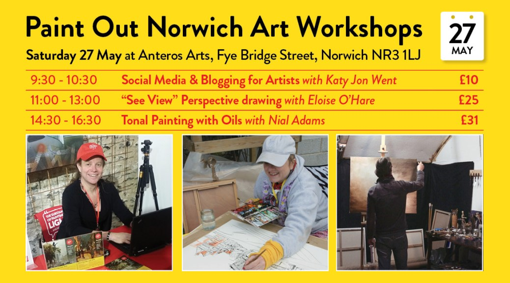 Paint Out Workshops 27 May 2017 at Anteros Arts Centre, Norwich