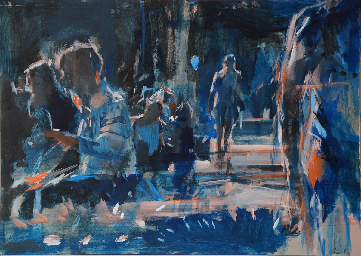 Artist: Shaun Carey, Title: Norwich Market 1, Location: Norwich Market, Media: Acrylic, Size: 16x23in, £300