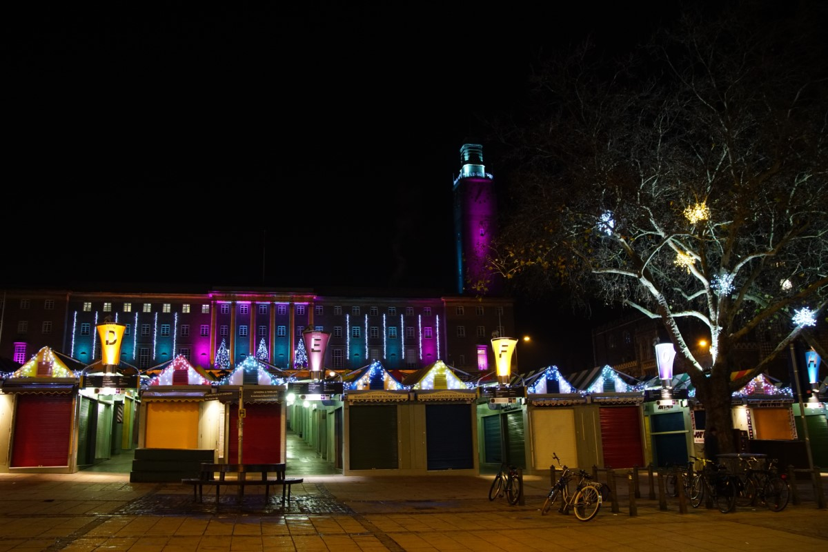 Norwich Market Christmas Lights
