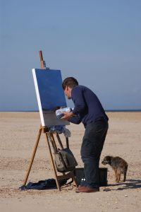 Artist Tom Cringle Wells Beach POW15