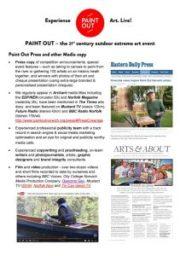 Download Paint Out Web, Press & Social Media Metrics doc