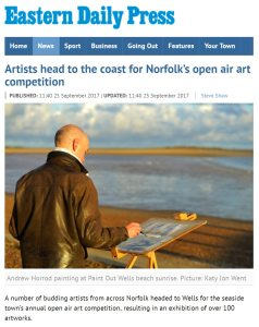 Artists head to the coast for Norfolk's open air art competition, EDP, 25 Sep 17