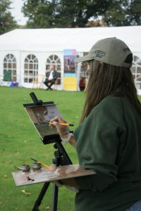 Painting on the Buttlands, Paint Out Wells 2016. Photo by Katy Jon Went