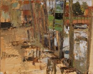 Artist Sam Robbins, 'Blakeney Hard', Blakeney, Oil on cardboard, 10x8in, £200 SOLD. Paint Out Wells 2017 Second Prize