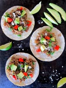 Instant Pot Carnitas portrait open tacos - Paint the Kitchen Red