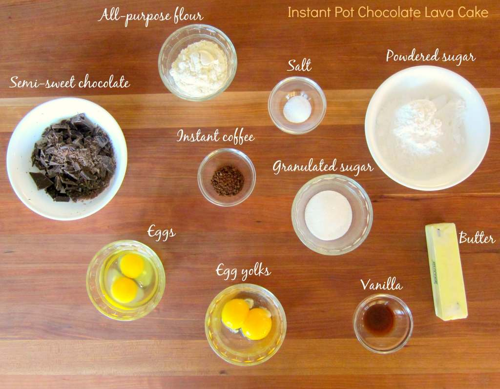 Instant Pot Chocolate Lava Cake Ingredients