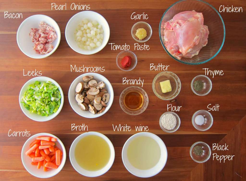 Instant Pot Coq au Vin Blanc Ingredients - Paint the Kitchen Red