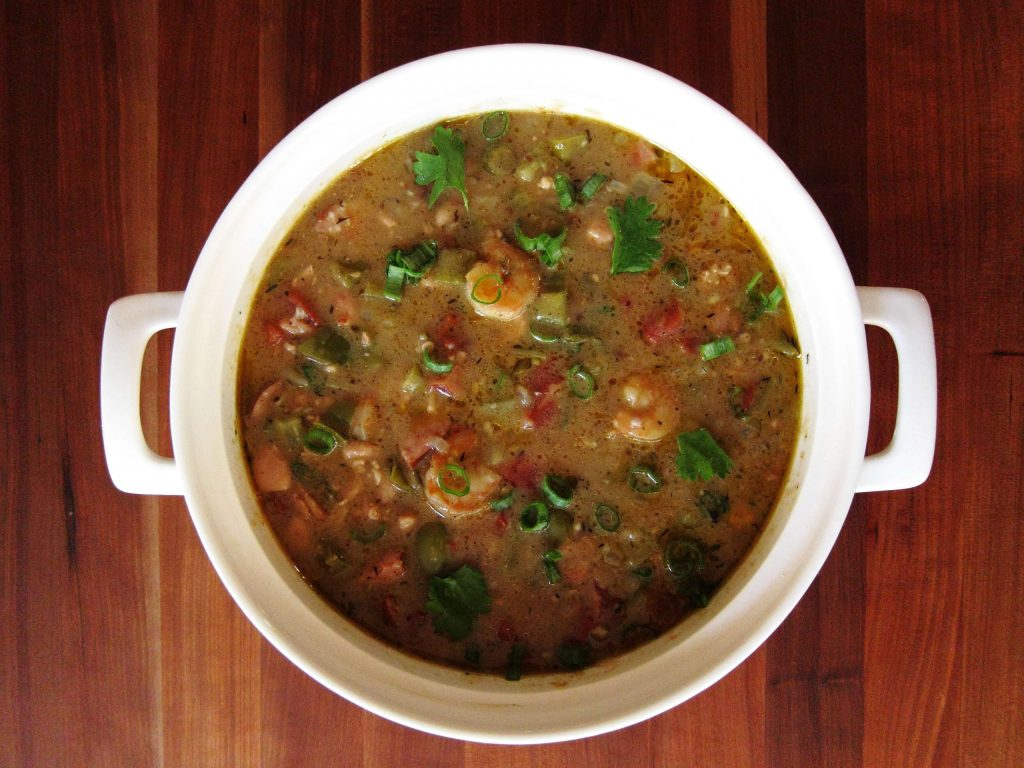 Instant Pot Gumbo in Pot - Paint the Kitchen Red