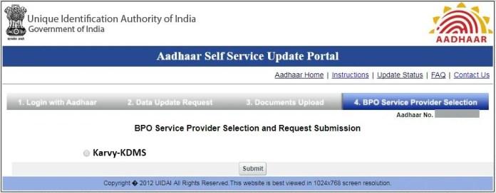 change address in Aadhaar card online at home