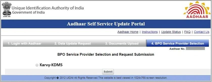 BPO service provider selection