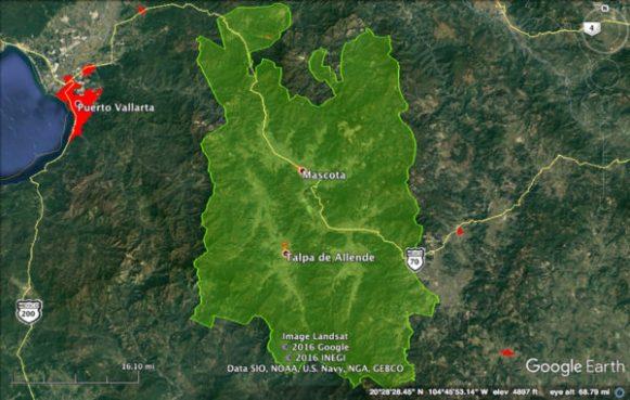 Área del Proyecto Paisaje Biocultural en México