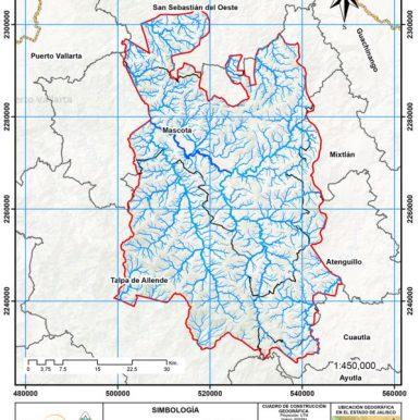 Red Hidrológica dentro del área de intervención del Paisaje Biocultural
