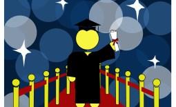 Student graduating.