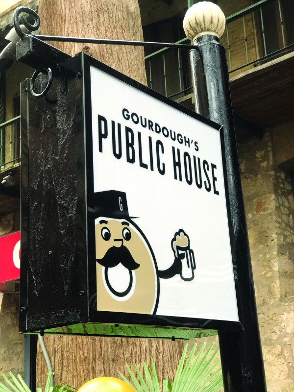 Gordough's sign greets hungry guests