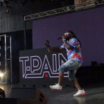 T-Pain hypes up the crowd.