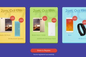Xiaomi Mi Re 1 Flash Sale Diwali 2016