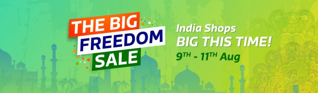 Flipkart Big Freedom Sale and offers